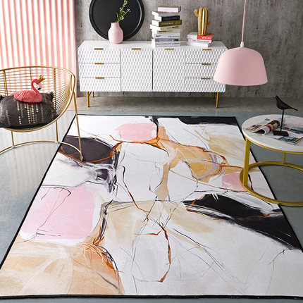 Art Geometry Large Carpet Living Room Modern Luxury Sofa Coffee Table Home Simple Bedroom Bedside Blanket in Carpet from Home Garden