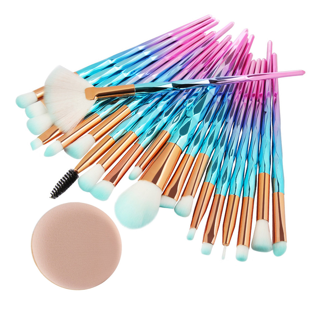 MAANGE 20Pcs Diamond Makeup Brushes Set Powder Foundation Blush Blending Eye shadow