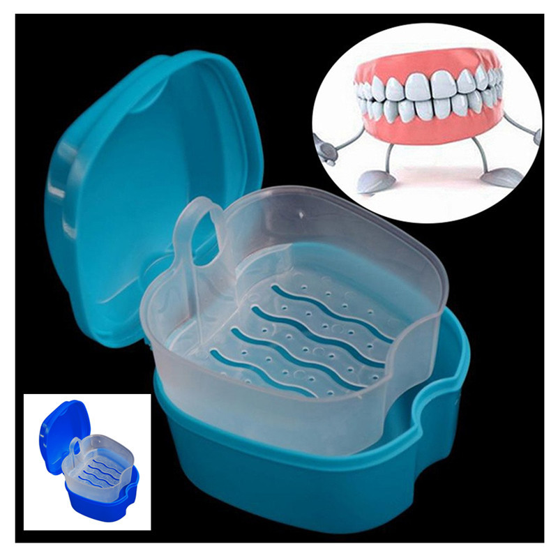 Case Container Storage-Box Denture False-Teeth With Hanging-Net 9x9x 7cm 10--2