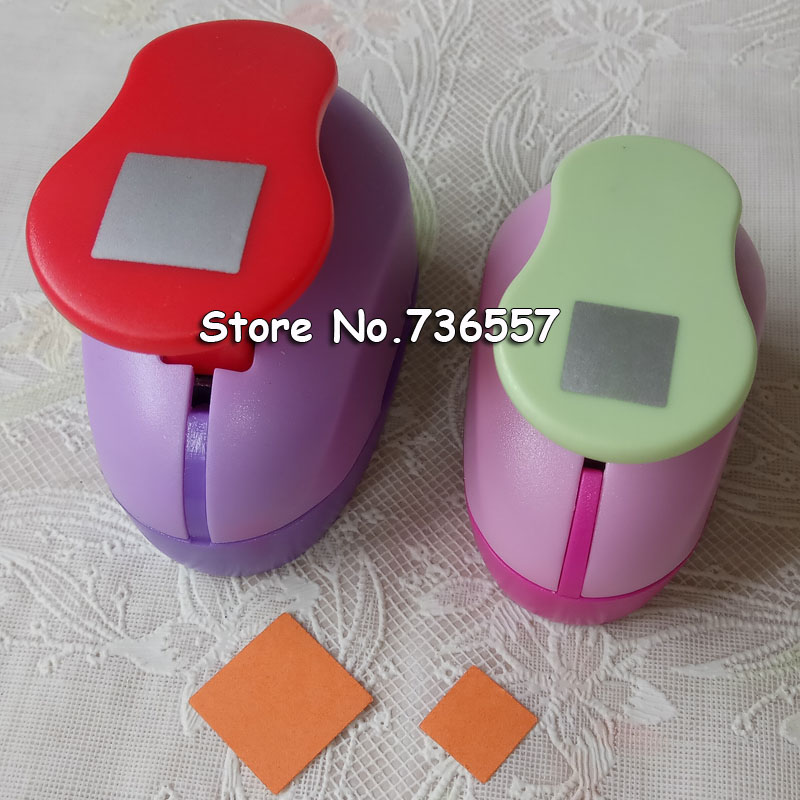 Free Shipping 1 Inch Square Shape EVA Foam Punches Paper Punch For Greeting Card Handmade DIY Scrapbooking Craft Punch Machine