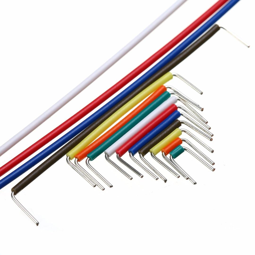 140 Uds Cable de la placa de pruebas 22 AWG tablero sin soldadura puente cables sólidos Kit de Cable con caja 165x55x10mm para Arduino Cable de desenganche de transmisión Cable de acelerador para Chrysler 727