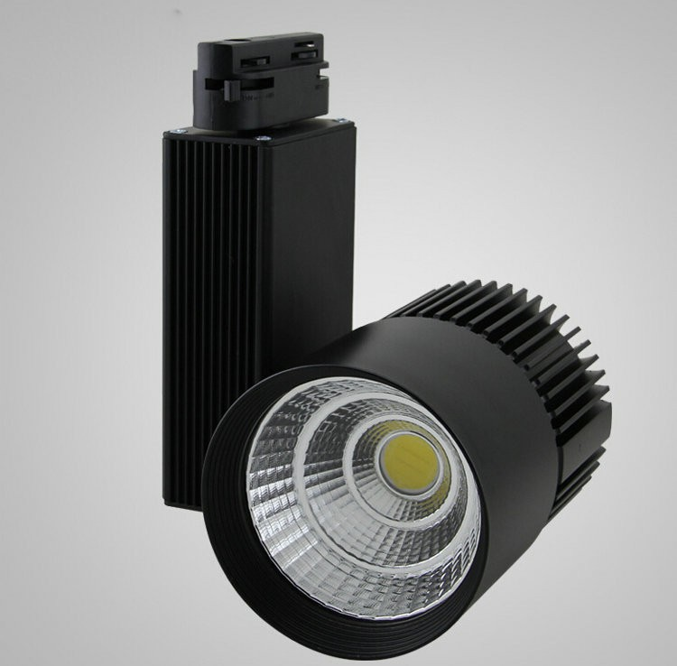 No Dimmable 30W COB LED track light Rail spot lighting Clothing store lights showcase LED spotlights led track light50wled exhibition hall cob track light to shoot the light clothing store to shoot the light window