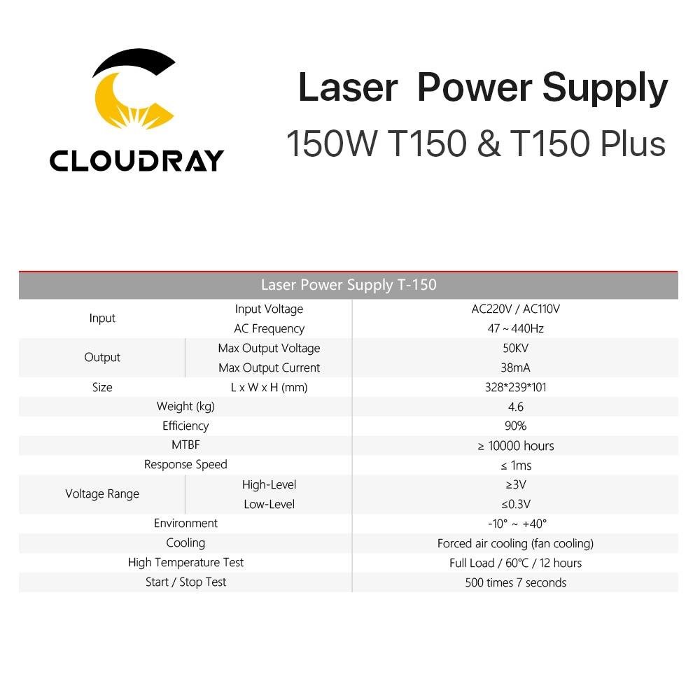 Cloudray 150W CO2 lézer tápegység a CO2 lézergravírozógép - Famegmunkáló gépek alkatrészei - Fénykép 5