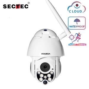 Image 1 - SECTEC 1080P PTZ IP Camera Auto Tracking Speed Dome WiFi Wireless CCTV Camera Outdoor Security Surveillance Waterproof Camera