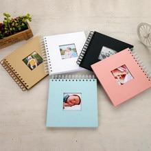 Álbum de fotografia de papel infantil, álbum de fotos de bebê para scrapbooking, fotoálbum de fotos com portafoto