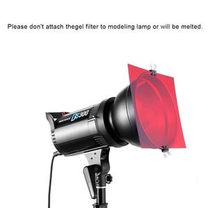 Image 2 - Uniwersalny zestaw 30x30 cm z 8 przezroczystym filtrem żelowym do korekcji kolorów na akcesoria do studia fotograficznego