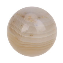 19mm Natural White Marble Crystal Ball Sphere with Stand Decor DIY Jewelry