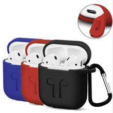 For Airpod Apple Wireless Headphones Auriculares Rubber Case Fone de ouvido Soft Silicone Cover for Airpods iPhone Charging Box(China)