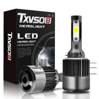 TXVSO8 LED H15 COB Car Light Kit 12V 26000LM 6000K White Auto Bulb 110w Headlamp Conversion Replacement Globe Day time Running