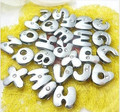 130pcs 8mm One crystal lovely Fat Letters Smooth English Alphabet A-Z DIY Slide letters Charms