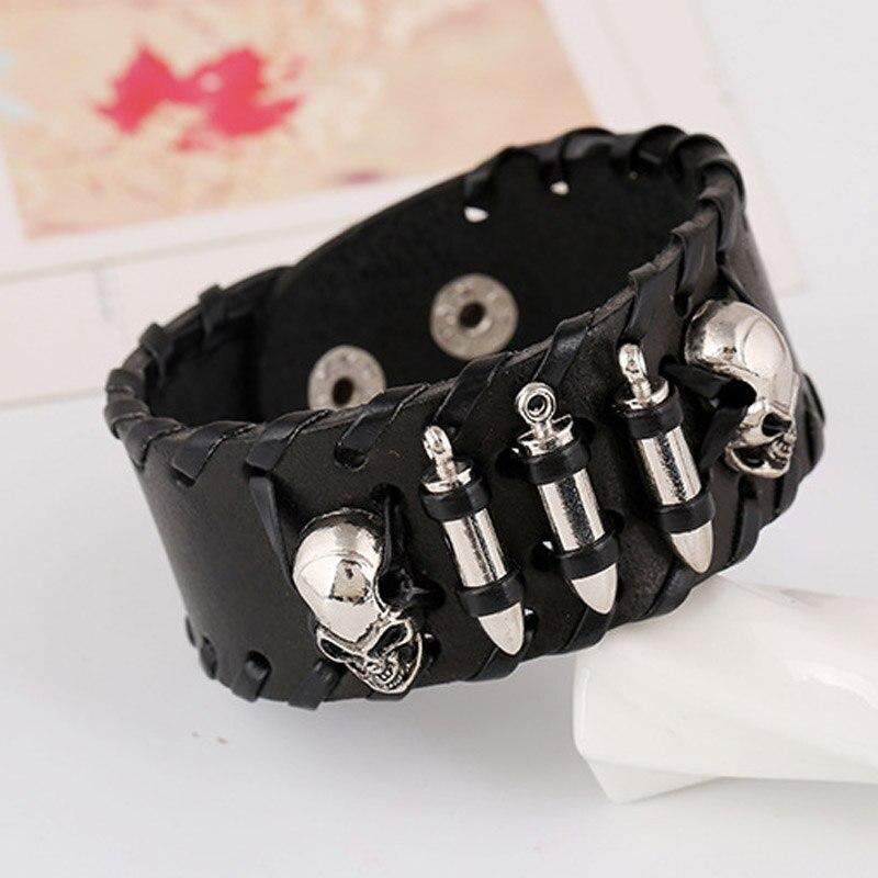 Bracelet squelette tête de mort et balles 5