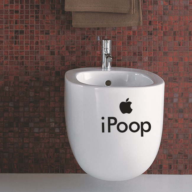 Free Shipping Ipoop Toilet Bathroom Wall Stickers Decal Funny - Vinyl wall decals australia
