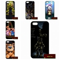 Foxy Five nights at freddy Cover case for iphone 4 4s 5 5s 5c 6 6s plus samsung galaxy S3 S4 mini S5 S6 Note 2 3 4   DE0852