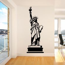 STATUE OF LIBERTY USA AMERICA New York Landmark Wall Art Room Sticker Decal Door Window Stencils Mural Decor S M L(China)