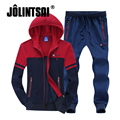 Jolintsai Sportwear Suit Men 2017 Autumn Plus Big Size 4XL 5XL 6XL 7XL 8XL Tracksuit Set Men's Hoody Hoodie Sudaderas Hombre