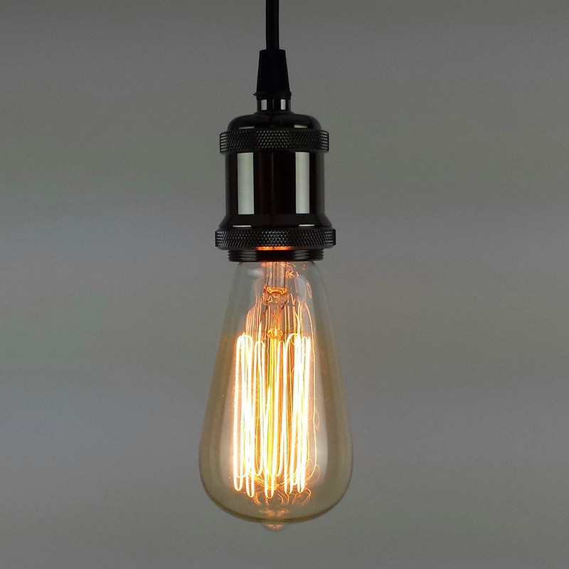 Edison Bulb Light Ideas 22 Floor Pendant Table Lamps: Pendant Light E27 Lamp Holder For 110V 220V Led