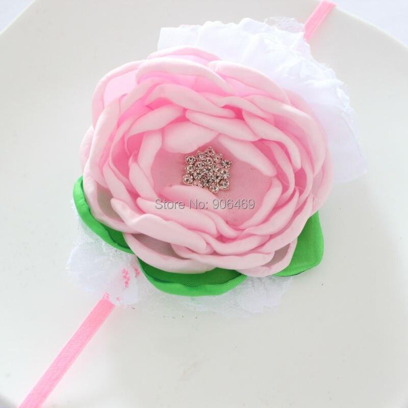 Свадебные волос цветок оголовье дети сожгли цветок оголовье, Розовый Белый опалены цветок оголовье девушка головные уборы, лента для волос ... ...