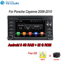 YESSUN 2 din Android 8.0 4G RAM 8 core For Porsche Cayenne 2006 2010 Car Navigation GPS Multimedia Player Car head unit Stereo