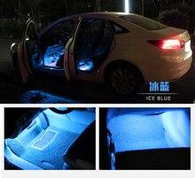 12 В автомобиля светодиодные полосы светодиодный led автомобиля декоративная Атмосфера свет автомобилей Интерьер Лампа нижнего освещения синий Фиолетовый Лед синяя машина дизайн