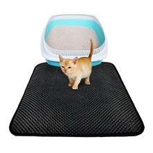 цена Waterproof Double-Layer Cat Litter Trapper Mat Soft Washable EVA Cat Litter Mat Pets Cushion High Elastic Cat Bed Drop Shipping