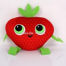 """ახალი ჩამოსვლა მოღრუბლული, Meatballs- ის შესაძლებლობით 2 Cute Barry Strawberry Stuffed Plush Toys 10 """"Stuffed & Plush Plants"""