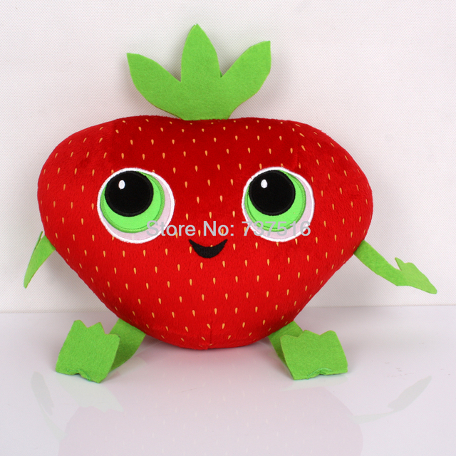 "New Arrival Cloudy With A Chance of Meatballs 2 Cute Barry Strawberry Stuffed Plush Toys 10"" Stuffed & Plush Plants"