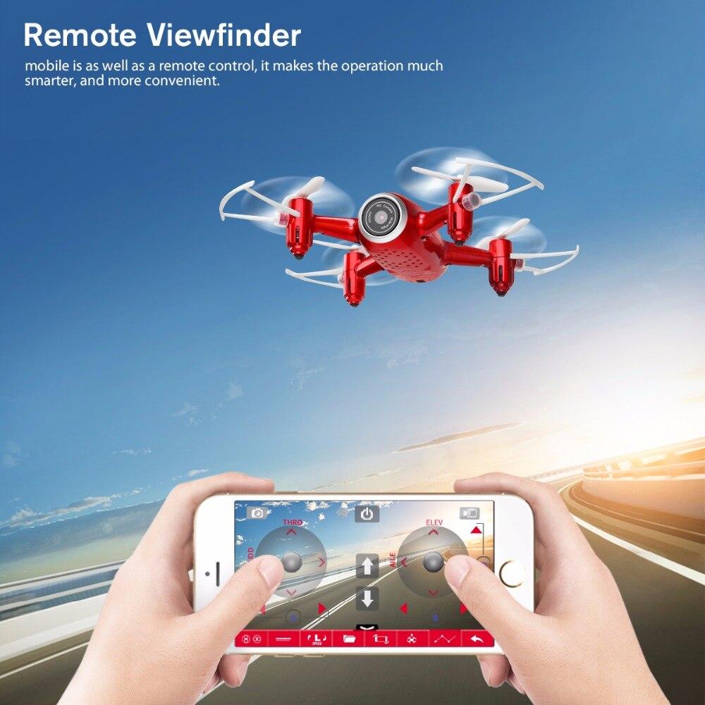 X22w Дроны с Камера FPV системы Wi Fi в режиме реального времени 2.4GH 4ch headless режим парение Функция Мультикоптер Дрон красного цвета - 4