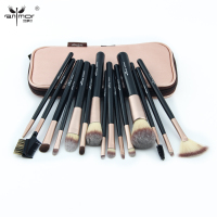 2017 New 15PCS Makeup Brushes Set Professional Make Up Brush Kit With Pink Bag