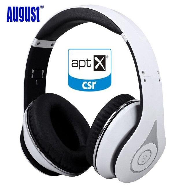 August EP640 Беспроводные Наушники Bluetooth 4.1, Над Ухом Стерео Наушники с Микрофоном/NFC/aptX Гарнитура для Телефона, ПК