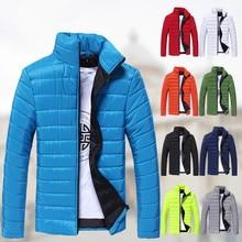 Мужская зима теплая Тонкий мягкий воротник хлопок куртка молодежная куртка Корейский Тонкий пальто 9 цвета