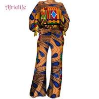Cotton Women Set African Wax Print Dress for Women Vestido Bazin Riche Traditional African Women Clothing WY4432