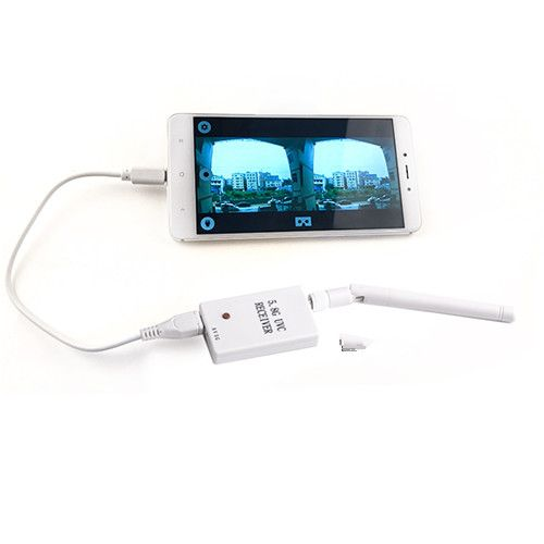 FPV Receiver Mini 5.8G 150CH UVC Video Downlink OTG For Samsung Android Phones fpv mini 5 8g 150ch mini fpv receiver uvc video downlink otg vr android phone tablet pc fpv mobile phone display receiver