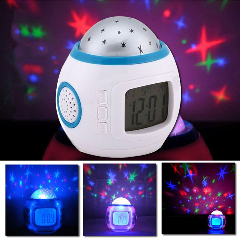 Star Night Light Indoor Lighting Atmosphere Amazing Flashing Colorful family PATY Bedroom Alarm Clock Star LED Projector Lamp