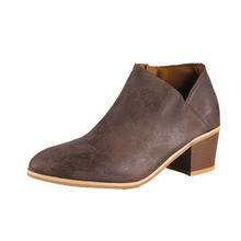 COZULMA Women Autumn Burnish Leather Side Zip Ankle Boots Shoes Female Med Heels Chelsea Boots Plus Size 35-43 morazora boots female cow suede fashion shoes zip solid leather boots spring autumn med heels shoes ankle boots for women