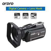 ORDRO D395 Full HD 1080P Wifi 3.0 Touch Screen Digital Video Camera Handheld Camcorder DVR 18xZoom Recorder + Lens Hood