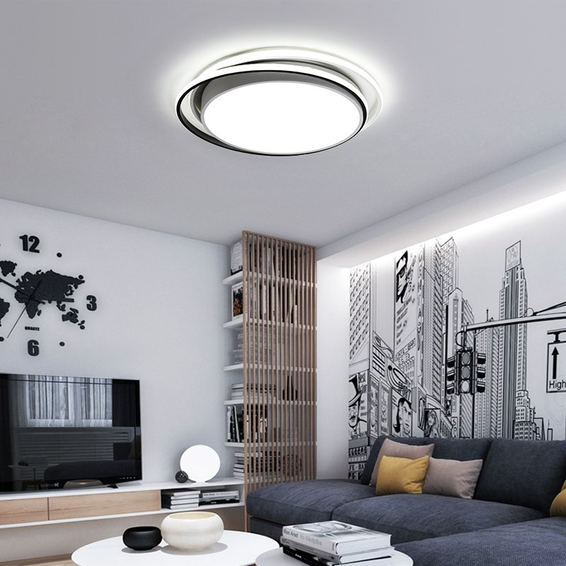 New Hot Remote Controller Modern Led Ceiling Lights For Living Room Bedroom Sdutyroom White/Black Dimmable Ceiling Lamp FixturesNew Hot Remote Controller Modern Led Ceiling Lights For Living Room Bedroom Sdutyroom White/Black Dimmable Ceiling Lamp Fixtures