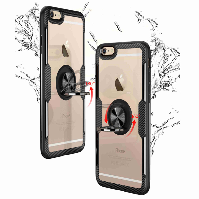 Magnetic Car Phone Case Holder For Iphone 6 Stitch Cover 6s Ring Covers