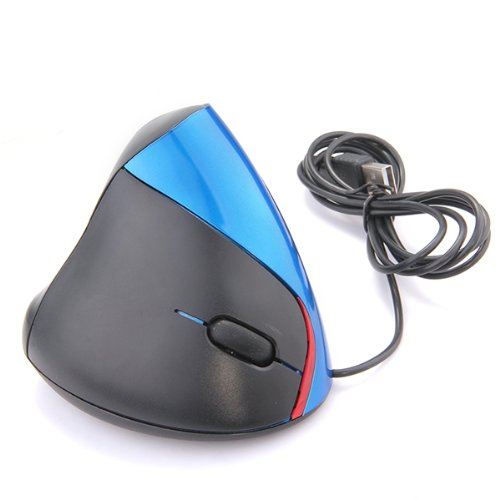 YOC 5psc/lot Vertical USB mouse 1000DPI ergonomic mouse blue computer LED PC