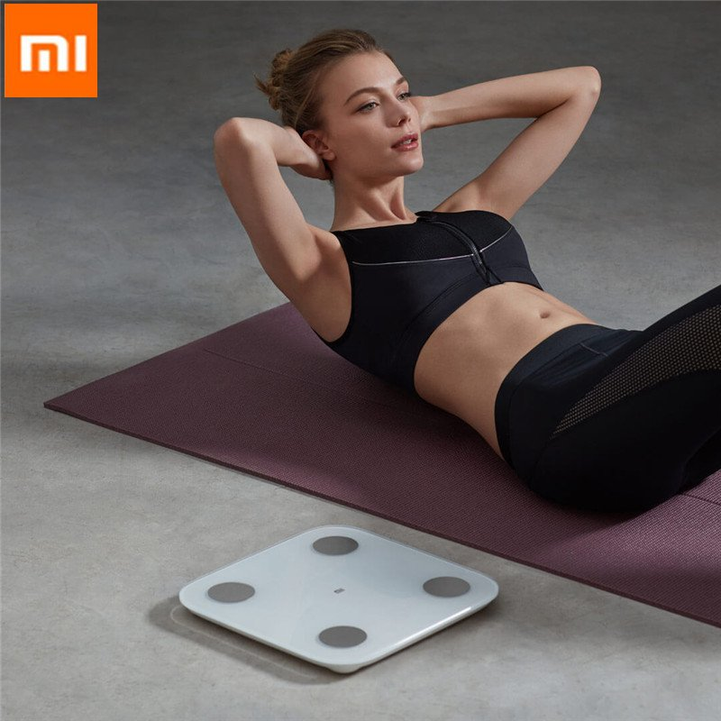 XIAOMI 2.0 Intelligent Body Fat Scale Weight Scale Fitness Yoga Tools Scale LED Display  Body Fat Monitors Health Care Monitors(China)