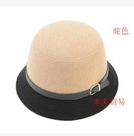 50pcs/lot fedex fast free shipping korean style winter woman Beach Belt fedoras hat solid casual cute hat 57cm