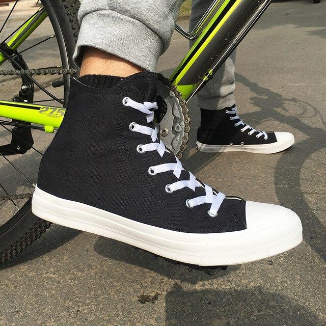 Wen Donne Degli Uomini Casual Scarpe Nero Bianco Scarpe di Tela Unisex Sneakers High Top Lace Up Scarpe Scarpe Vulcanizzate Piatto Grande taglia 49
