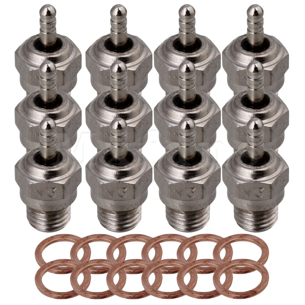 Mxfans 12xSilver RC1:8 1:10 Spark Glow Plug for HSP RC Car N3 15~28 Nitro Engine лента пвх пил купить в москве