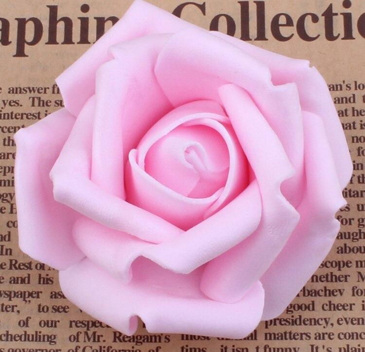 100 unids / lote 7 cm Espuma Artificial Rose Heads Real Touch DIY - Para fiestas y celebraciones - foto 4