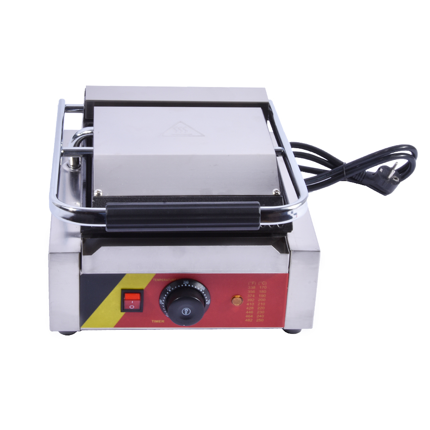 NP 589 Commercial 110V 220V Stainless steel Electric Bread Sandwich Maker Toaster Grill Non Stick Cooking Surface 2200W Power