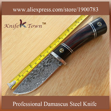 DT010 counter strike knife camping knife ebony and rose wood handle high hardness black hunting knife