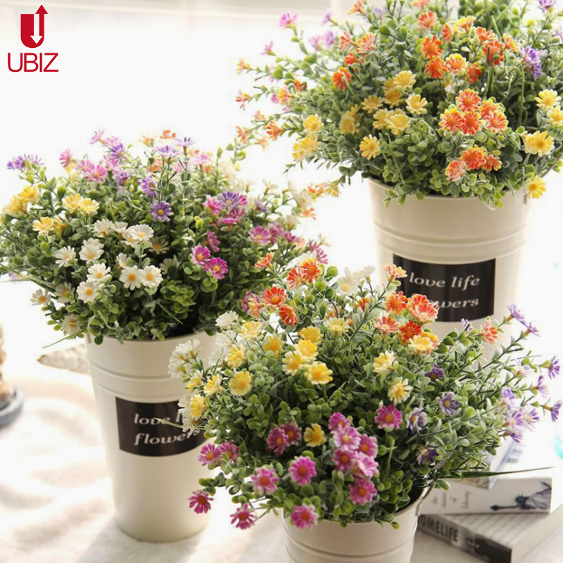 Compare prices on wedding flowers ideas online shopping for Artificial flower vase decoration ideas
