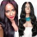 2016 Instock Grado 8A Sin Procesar U parte peluca Brasileño de la Virgen del pelo parte estrecha tamaño en la parte media del pelo humano U parte pelucas