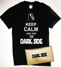 Keep Calm and Join The Dark Side T-Shirt with Packaging Star Wars Darth Vader Free shipping Harajuku Tops Fashion Classic
