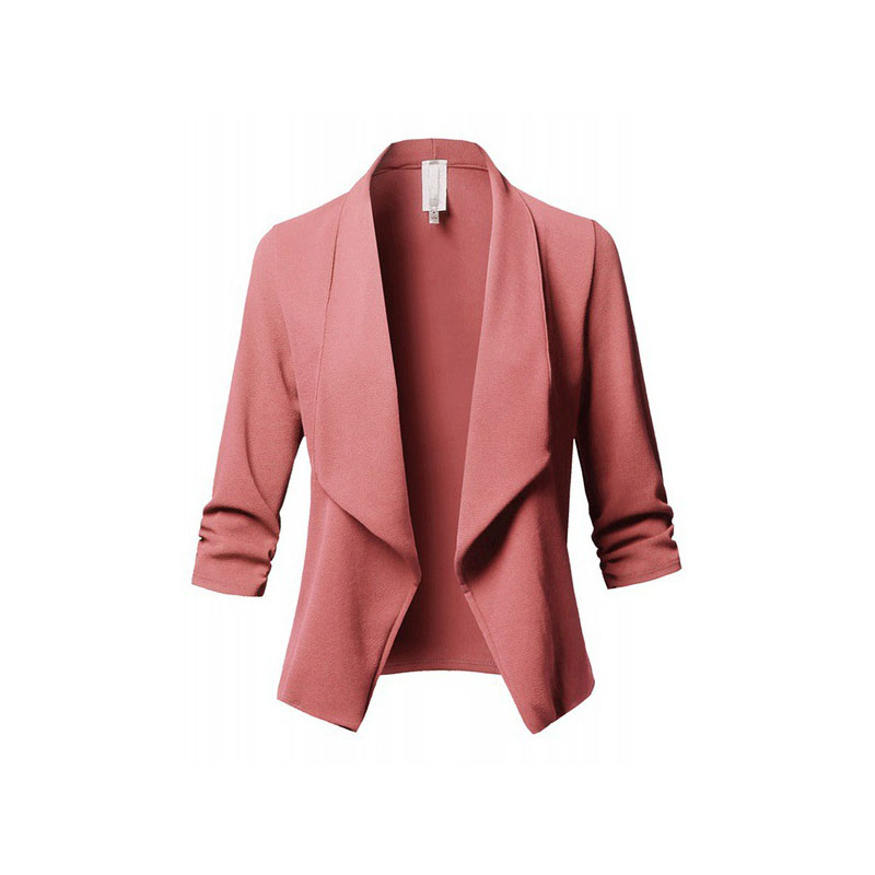 Autumn Casual Women jacket 2019 Blend Coat Slim Long Sleeve chaqueta mujer Pleated Solid Wild Small Autumn Casual Women jacket 2019 Blend Coat Slim Long Sleeve chaqueta mujer Pleated Solid Wild Small Plus Size feminino