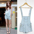 2017 New Summer Sexy Fashion Personalized Denim Women's Short Jumpsuit Vintage Short Jeans Jumpsuits Rompers Overalls